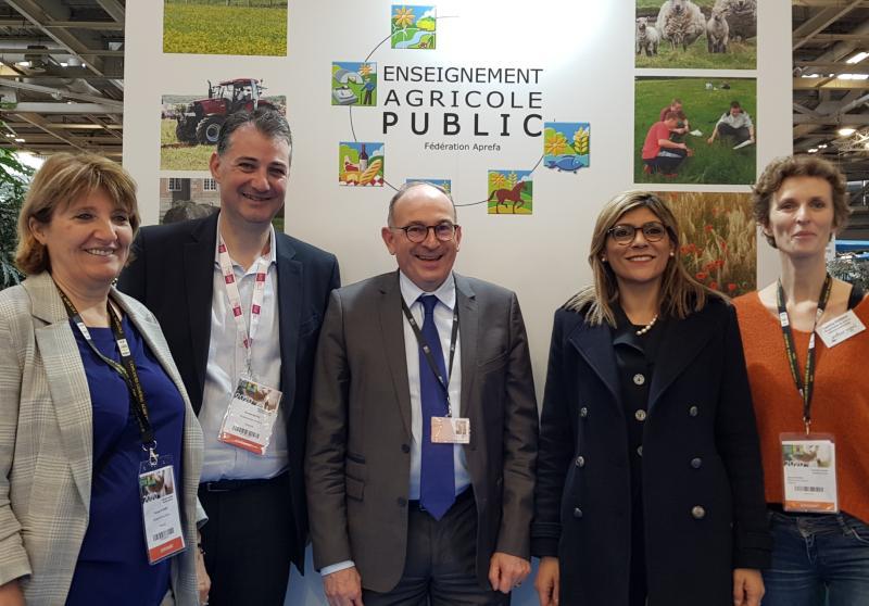 M. Bastié, président de l'APREFA et M. Roche-Bruyn, DG AgroSup Dijon