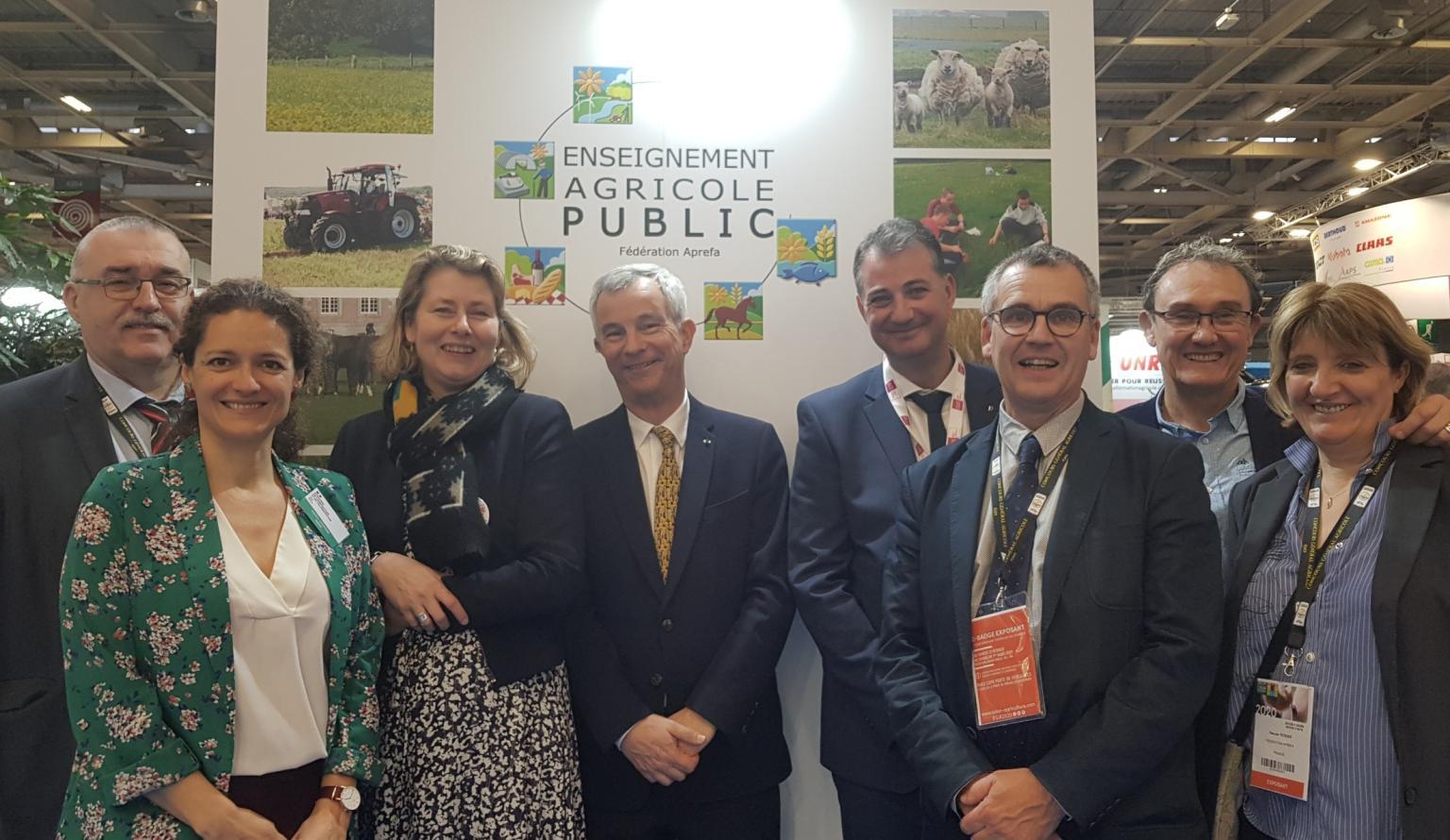 M. Langouët, adjoint au Directeur d'AgroSup Dijon et directeur d'Eduter, et M. Vinçon, Directeur Général de l'Enseignement et de la Recherche au ministère de l'agriculture et de l'alimentation
