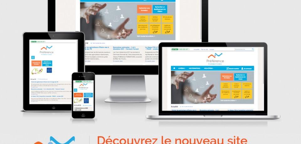 Nouveau site Préférence FORMATIONS