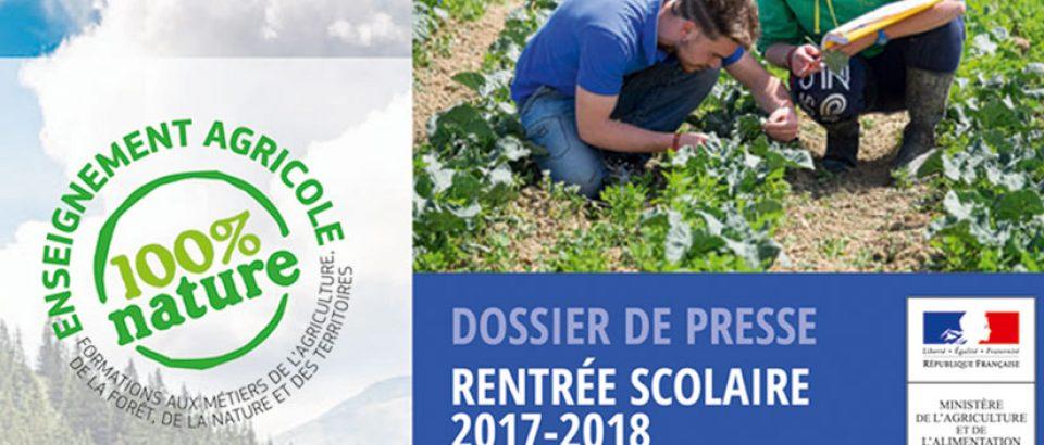 Enseignement agricole : rentrée scolaire 2017