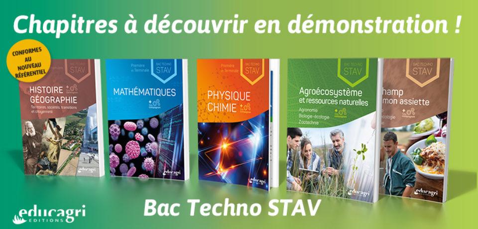 Bac techno STAV : des chapitres en démonstration !