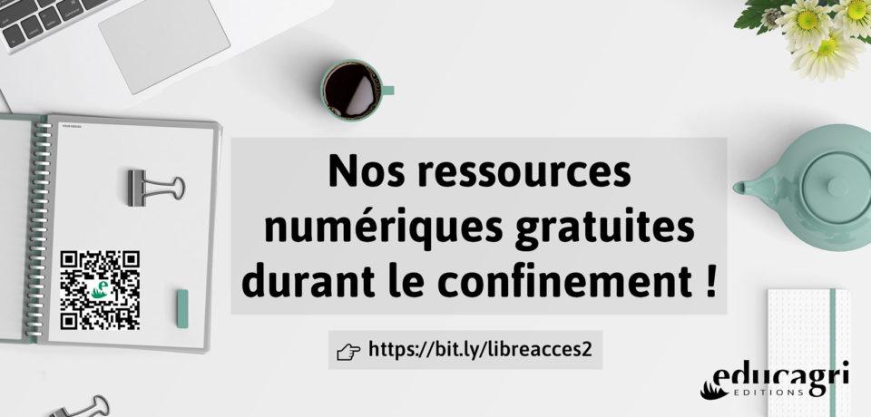 Educagri éditions met à disposition gratuitement ses ressources numériques !