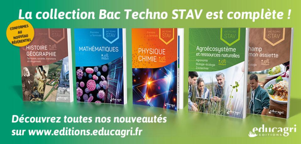 Les manuels pour le Bac Techno STAV